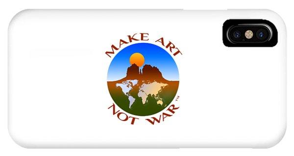Make Art Not War Logo IPhone Case