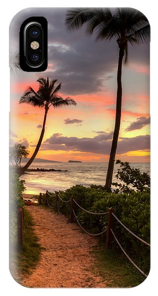 IPhone Case featuring the photograph Makena Sunset Path by Susan Rissi Tregoning