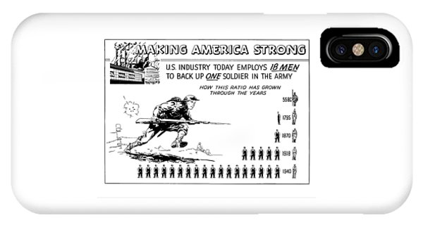 Industry iPhone Case - Making America Strong Cartoon by War Is Hell Store