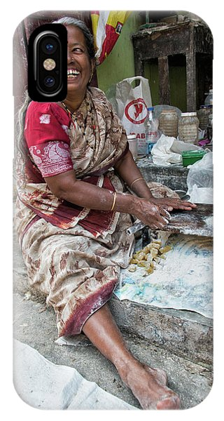 Kerala iPhone Case - Making Chapatti by Marion Galt