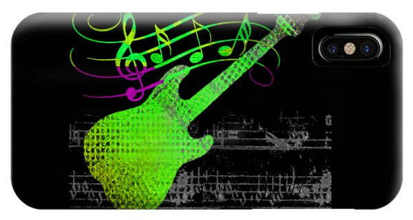 IPhone Case featuring the digital art Making Music by Guitar Wacky