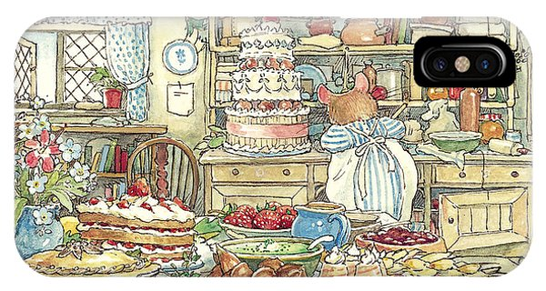 Ceremony iPhone Case - Making The Wedding Cake by Brambly Hedge