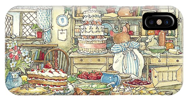 Coloured Pencil iPhone Case - Making The Wedding Cake by Brambly Hedge