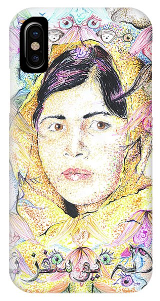 Malala-don't Ignore Us-sombra De Arreguin IPhone Case