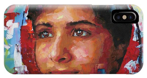 Nobel iPhone Case - Malala Yousafzai II by Richard Day
