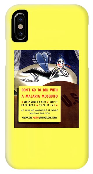 World War Two iPhone Case - Malaria Mosquito by War Is Hell Store