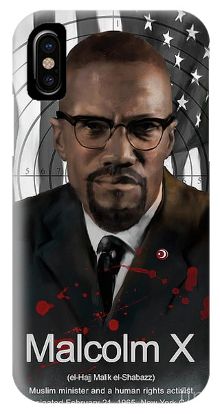 Malcolm X American History IPhone Case
