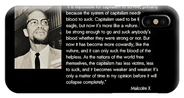 Malcolm X  On Capitalism And Vultures IPhone Case