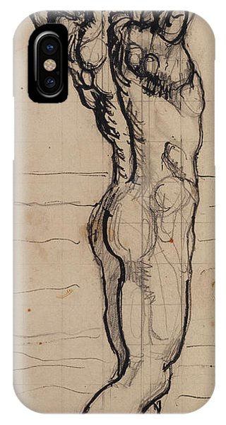 Nudes iPhone X Case - Male Act   Study For The Truth by Ferdninand Hodler