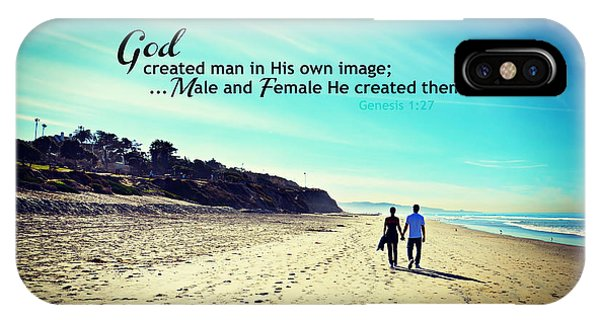 Male And Female He Created Them IPhone Case