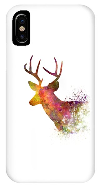 Male Deer 02 In Watercolor IPhone Case