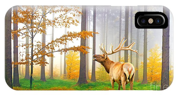Mule Deer iPhone Case - Male Elk Bugling by Laura D Young