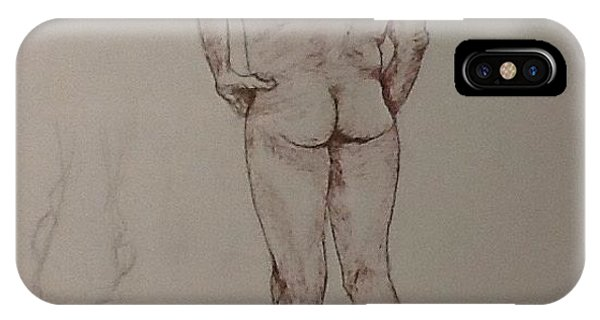 Male Life Drawing IPhone Case