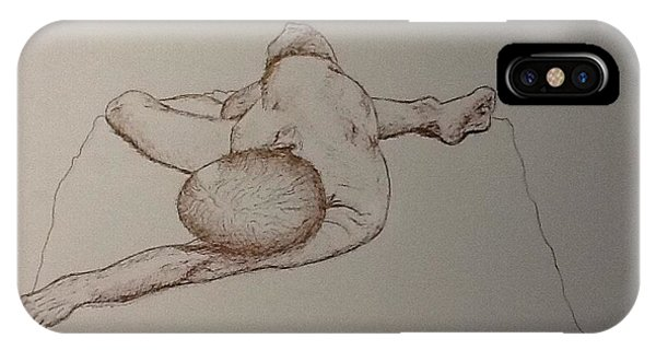 Male Nude Life Drawing IPhone Case
