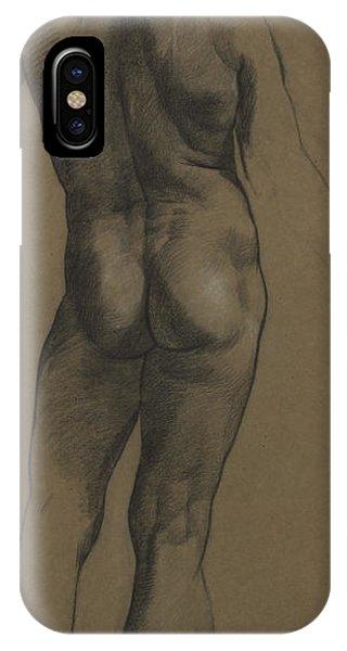 Gay Men iPhone Case - Male Nude Study by Evelyn De Morgan