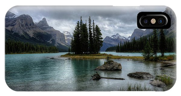 Maligne Lake Spirit Island Jasper National Park Alberta Canada IPhone Case