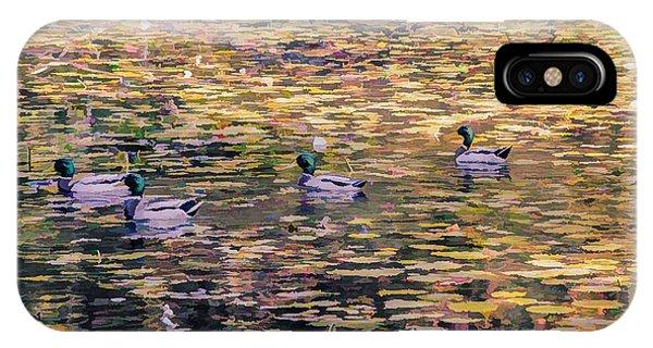 Mallards On Autumn Pond IPhone Case