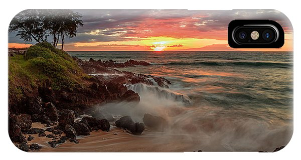 IPhone Case featuring the photograph Maluaka Beach Sunset by Susan Rissi Tregoning