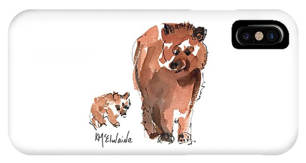 Mama And Baby Series Bear IPhone Case