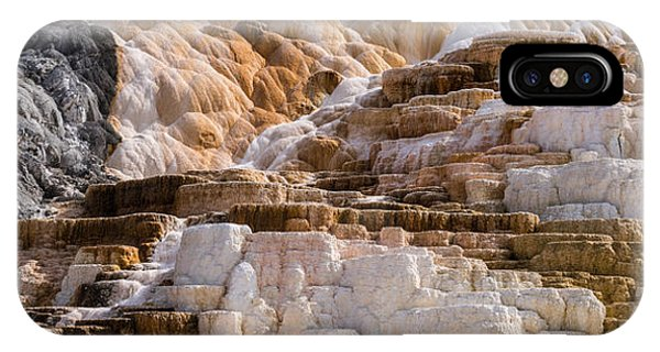 Mammoth Hot Springs iPhone Case - Mammoth Hot Springs Terraces Yellowstone by Steve Gadomski