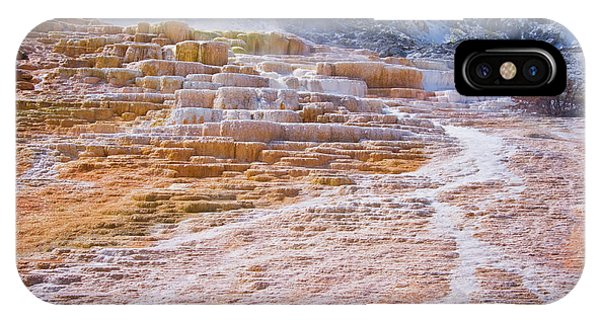 Mammoth Hot Springs iPhone Case - Mammoth Terraces Of Yellowstone by Delphimages Photo Creations