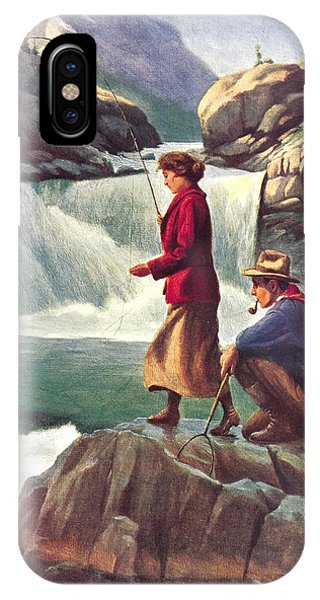 Man And Woman Fishing IPhone Case