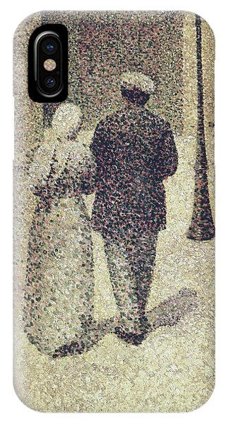 French Painter iPhone Case - Man And Woman In The Street by Charles Angrand