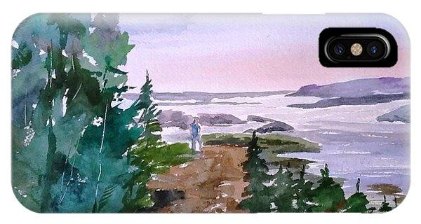 Man At Fraser Lake Bc IPhone Case