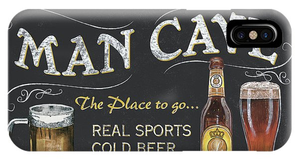 Cold iPhone Case - Man Cave Chalkboard Sign by Debbie DeWitt