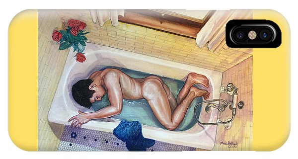 Man In Bathtub #3 IPhone Case