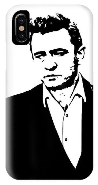Johnny Cash iPhone Case - Man In Black Minimal by Daniel Hagerman