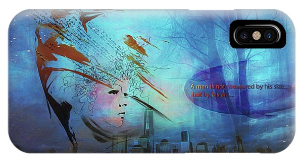 IPhone Case featuring the digital art Man Is Art by Richard Ricci