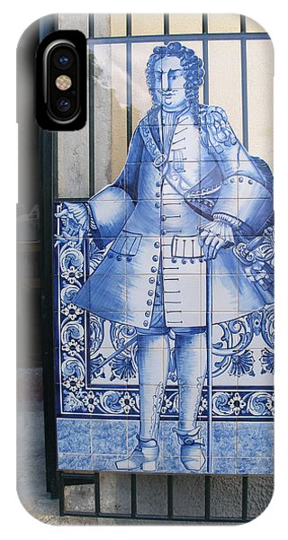 Man Of Blue Tiles Phone Case by Carl Purcell