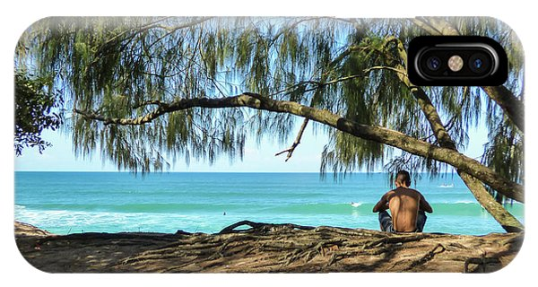 Man Relaxing At The Beach IPhone Case