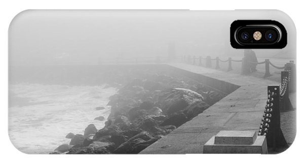 Man Waiting In Fog IPhone Case