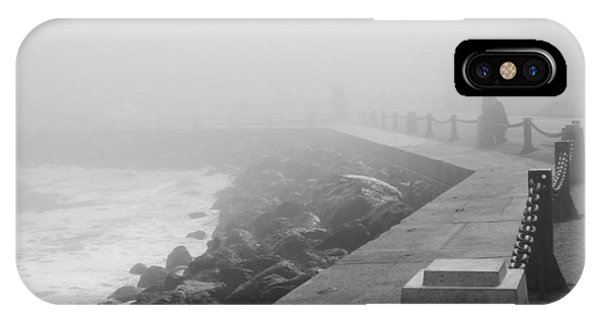 Man Waiting In Fog IPhone Case