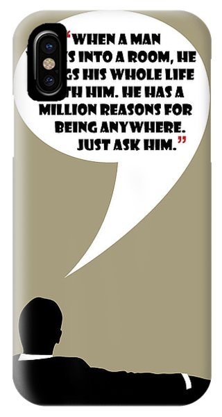 Man Walks Into A Room - Mad Men Poster Don Draper Quote IPhone Case