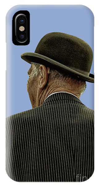 Man With A Bowler Hat IPhone Case