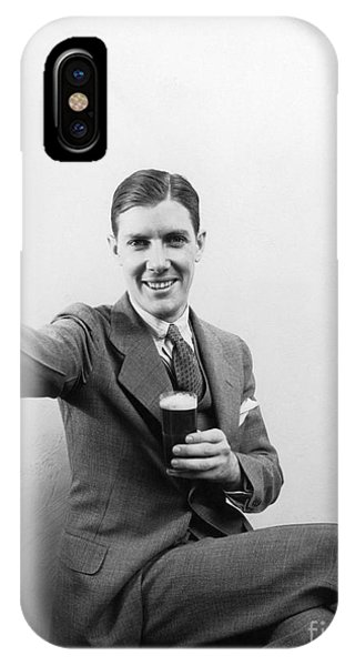 Endorsement iPhone Case - Man With Beer, C.1930s by H. Armstrong Roberts/ClassicStock