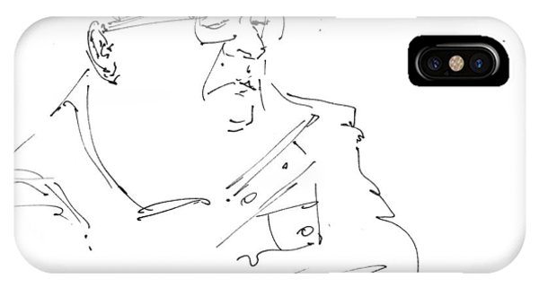 Sketch iPhone Case - Man With Hat by Ylli Haruni