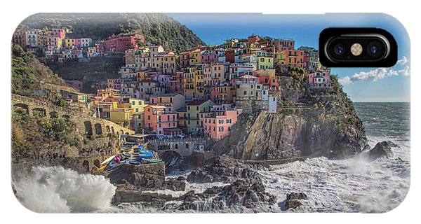 Manarola In Cinque Terre  IPhone Case