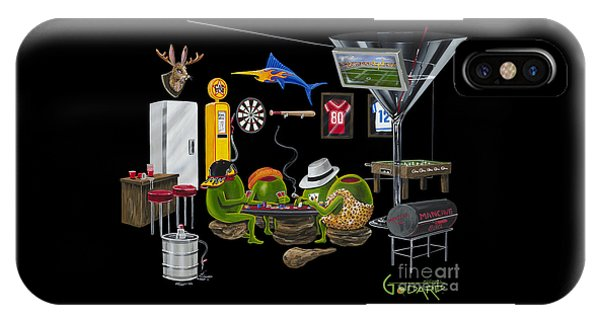 Mancave iPhone Case - Mancave by Michael Godard