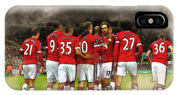 Wayne Rooney iPhone Case - Manchester United  In Action  by Don Kuing