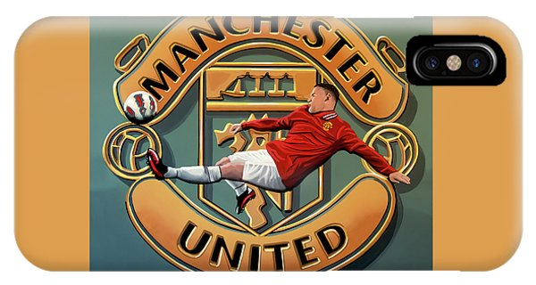 Wayne Rooney iPhone Case - Manchester United Painting by Paul Meijering