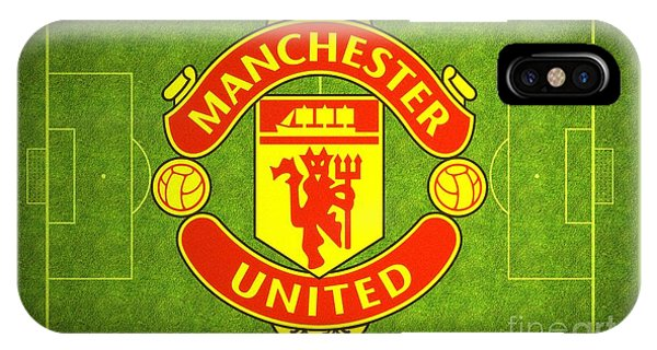 IPhone Case featuring the digital art Manchester United Theater Of Dreams Large Canvas Art, Canvas Print, Large Art, Large Wall Decor by David Millenheft
