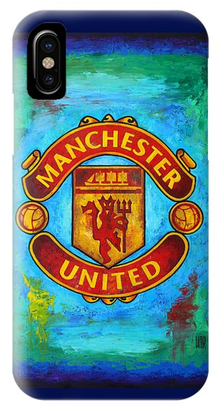 Soccer iPhone Case - Manchester United Vintage by Dan Haraga