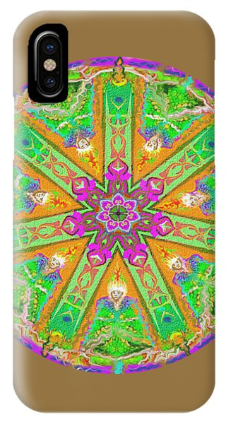 IPhone Case featuring the painting Mandala 12 27 2015 Kings And Priests by Hidden Mountain