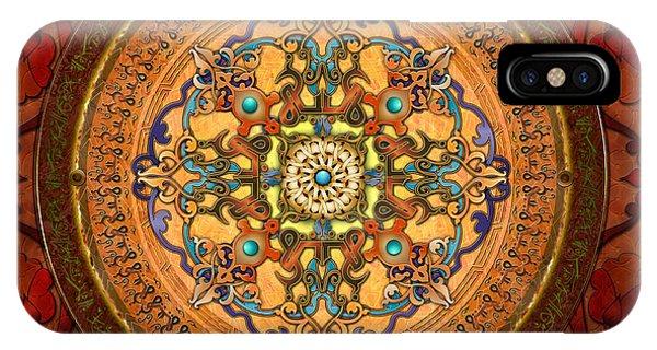 Digital Image iPhone Case - Mandala Arabia by Peter Awax