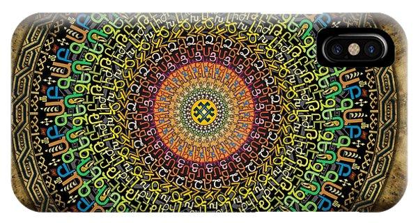 Buddhism iPhone Case - Mandala Armenian Alphabet by Peter Awax