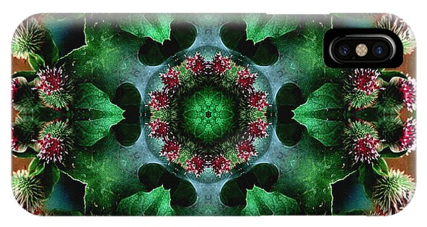 Mandala Bull Thistle IPhone Case
